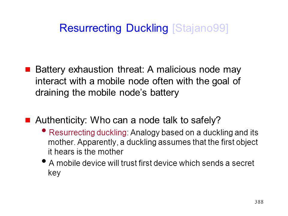 Resurrecting Duckling [Stajano99]